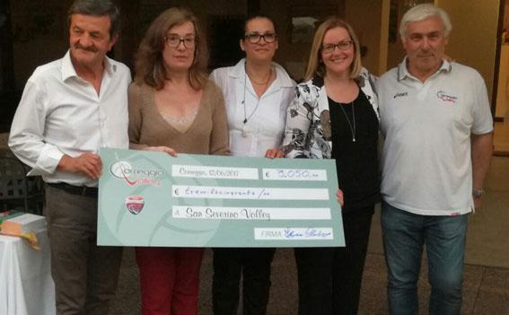 Solidarietà da Correggio per il volley settempedano